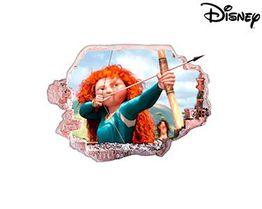 Vinil de Parede 3D Disney | Brave