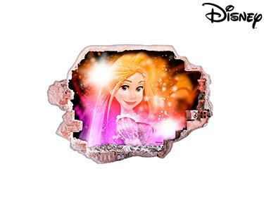 Vinil de Parede 3D Disney | Rapunzel, Feliz!
