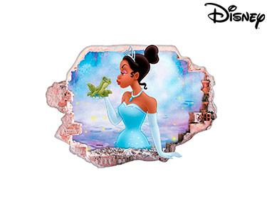 Vinil de Parede 3D Disney | A Princesa e o Sapo