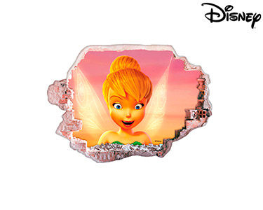 Vinil de Parede 3D Disney | Sininho Admirada