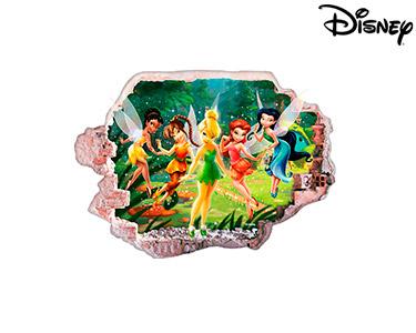 Vinil de Parede 3D Disney   Sininho e Fadas