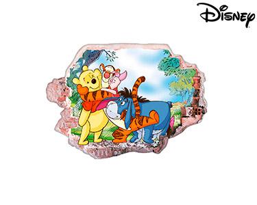 Vinil de Parede 3D Disney | Winnie The Pooh e os Amigos