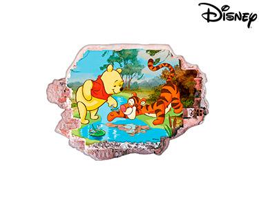 Vinil de Parede 3D Disney | Ursinho Puff e o Tigre