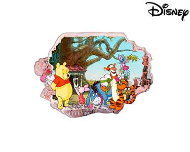 Vinil de Parede 3D Disney | Ursinho Puff, Presentes!