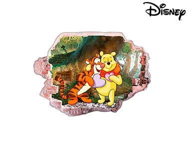 Vinil de Parede 3D Disney   Ursinho Puff, Amor!