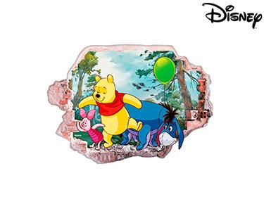 Vinil de Parede 3D Disney   Ursinho Puff, Divertidos!