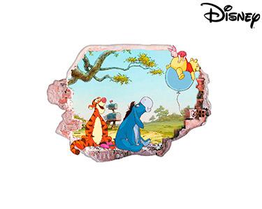 Vinil de Parede 3D Disney | Ursinho Puff, no Balão!