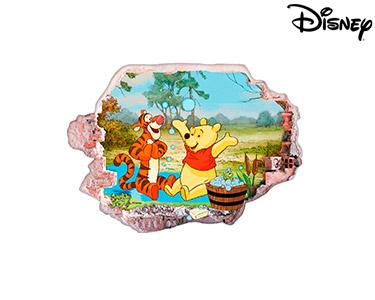 Vinil de Parede 3D Disney   Ursinho Puff, Bolas de Sabão!