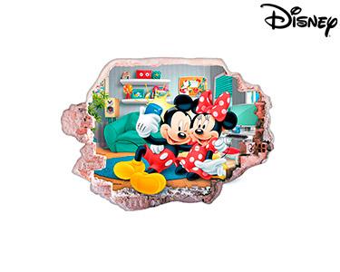 Vinil de Parede 3D Disney   Mickey e Minnie