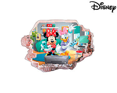Vinil de Parede 3D Disney | Minnie e Margarida