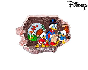 Vinil de Parede 3D Disney   Tio Patinhas e Sobrinhos