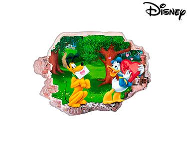 Vinil de Parede 3D Disney | Donald e Pluto