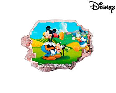 Vinil de Parede 3D Disney | Mickey, Donald e Pateta
