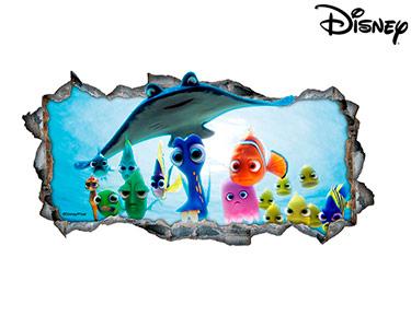Vinil de Parede 3D Disney | À Procura de Nemo