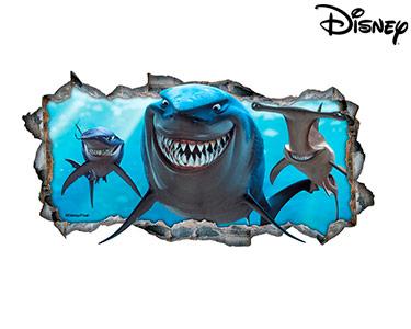 Vinil de Parede 3D Disney | São Bruce, Acla e Chum