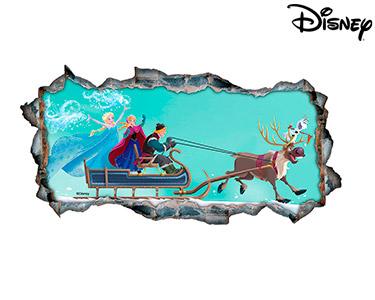Vinil de Parede 3D Disney | The Frozen, O Passeio