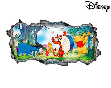 Vinil de Parede 3D Disney | Ursinho Puff, Música