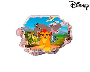 Vinil de Parede 3D Disney | Simba e os Amigos
