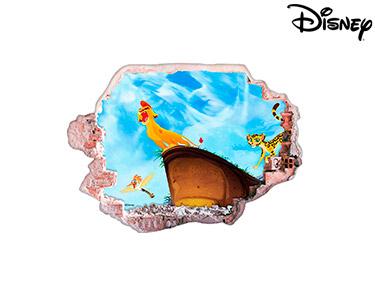 Vinil de Parede 3D Disney | Rei Leão, A Ascensão