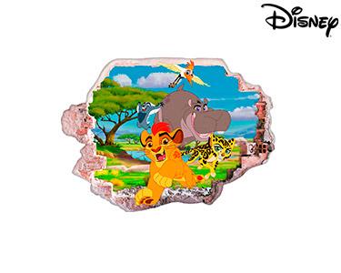 Vinil de Parede 3D Disney   Rei Leão e Amigos