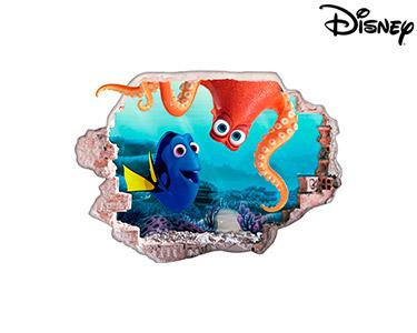 Vinil de Parede 3D Disney | Dóris e Hank