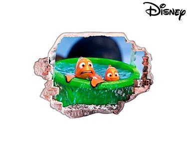 Vinil de Parede 3D Disney | Nemo e  Marlin Assustados