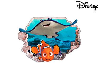 Vinil de Parede 3D Disney | Nemo e o Sr. Raia