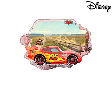Vinil de Parede 3D Disney   Cars
