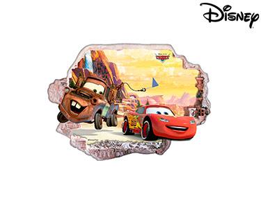Vinil de Parede 3D Disney | Faísca e Mate