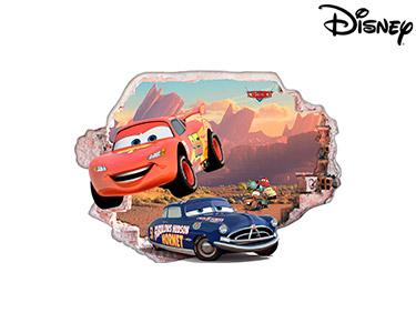 Vinil de Parede 3D Disney | Faísca e Hudson Hornet