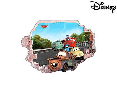 Vinil de Parede 3D Disney | Cars, Os Amigos