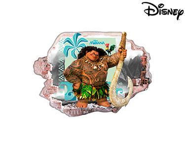 Vinil de Parede 3D Disney | Moana, Um Mar de Aventuras