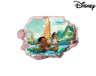 Vinil de Parede 3D Disney | Moana, Aventureira