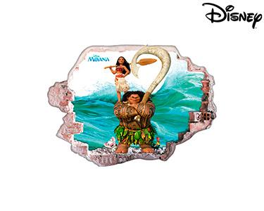 Vinil de Parede 3D Disney   Moana, a Familia