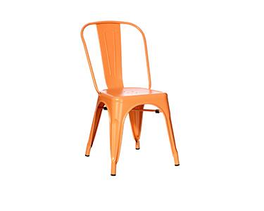 Cadeira Laranja Dallas Industrial
