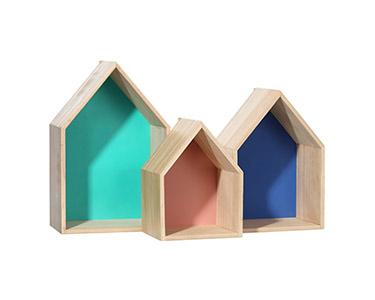 3 Estantes Formato Casa