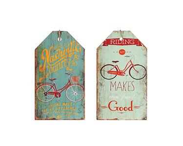 2 Quadros de Parede | Tema Bicicleta