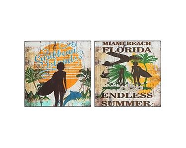 2 Placas de Parede | Tema Florida