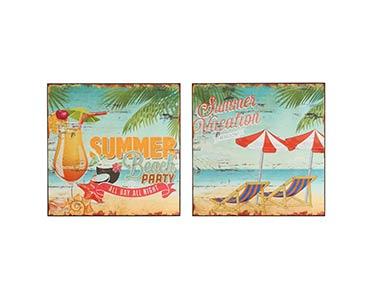 2 Placas de Parede | Tema Summer