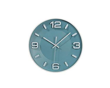 Relógio Circular de Parede   Azul