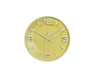 Relógio Circular de Parede | Amarelo
