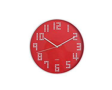 Relógio Circular de Parede | Vermelho