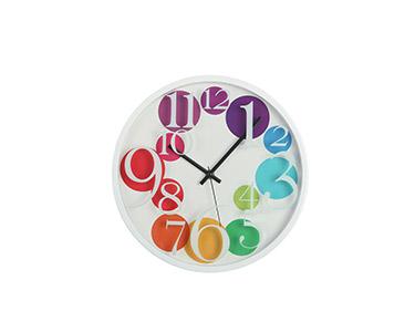 Relógio Circular de Parede   Multicor
