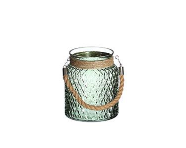 Mini Pote de Vidro Verde Decorativo
