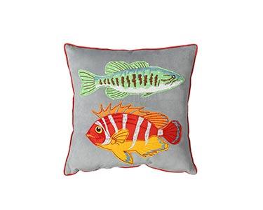 1 Almofada Quadrada | Peixes Multicor