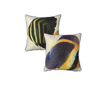 2 Almofadas Quadradas | Peixes Coloridos