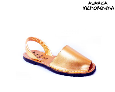 Avarca Menorquina® Rasas em Pele | Dourado