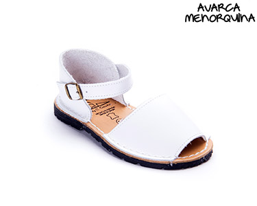 Avarca Menorquina® em Pele Baby    Branco