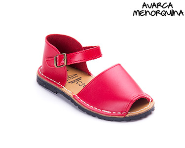 Avarca Menorquina® em Pele Baby | Vermelho