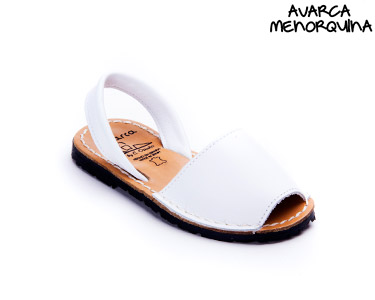 Avarca Menorquina® em Pele Kids | Branco